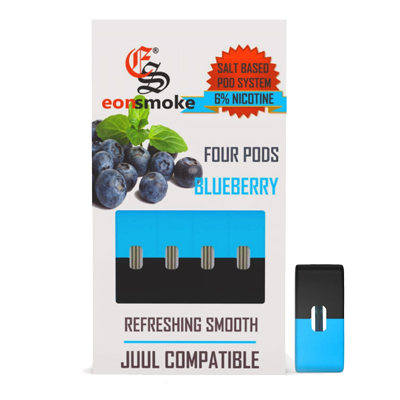 Eonsmoke Pods: Juul compatible Pod System 6% Nicotine Blueberry
