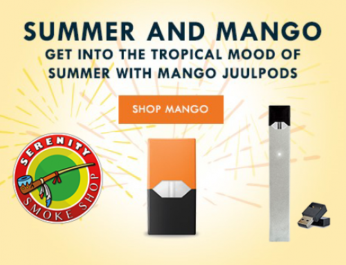 Summer & Mango  Get into the tropical mood of summer with mango juulpods