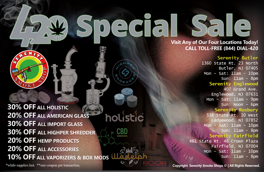 420 Special Sell @SerenitySmokeShop