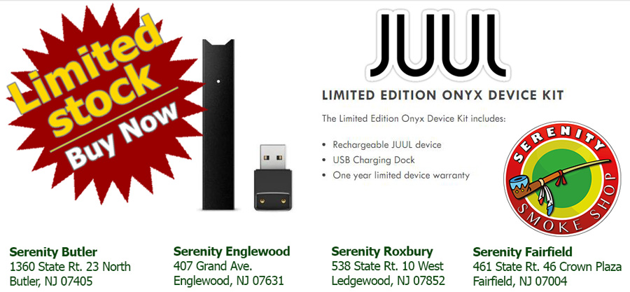 JUUL - DEVICE KIT (LIMITED EDITION ONYX) at serenity smoke shop